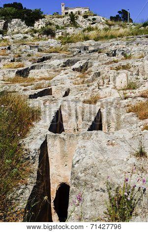 Sardinia.Punic Necropolis at Cagliari