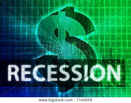 Recession Finance Illustration
