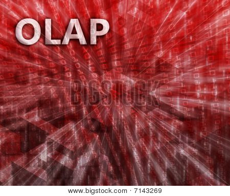 Olap Business Intelligence Illustration