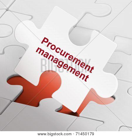 Procurement Management On White Puzzle Pieces