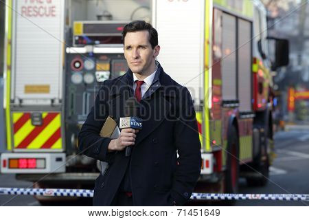 Abc News Reporter Covering The Tragic Incident Rozelle