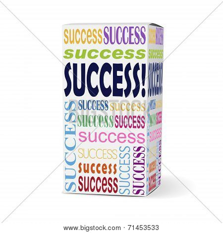 Success Word On Product Box