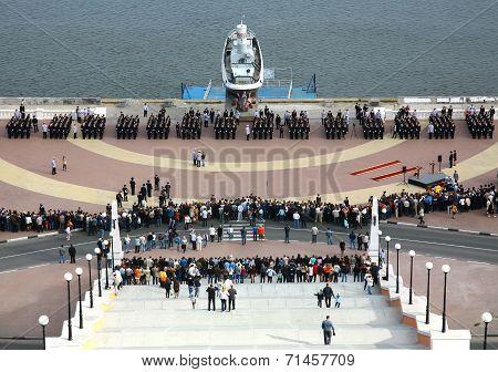 Taking The Oath Of The Nizhny Novgorod Police Academy Cadets