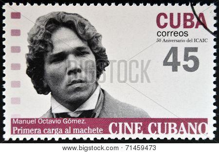 CUBA - CIRCA 2009: A stamp printed in Cuba dedicated to Cuban cinema