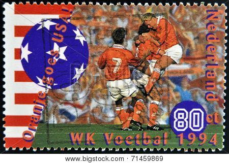 HOLLAND - CIRCA 1994: A stamp printed in Netherlands commemorating oranje goes USA circa 1994