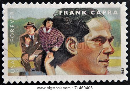 UNITED STATES OF AMERICA - CIRCA 2012: A stamp printed in USA dedicated to the Great Film Directors