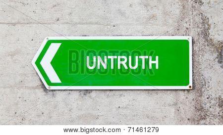 Green Sign - Untruth