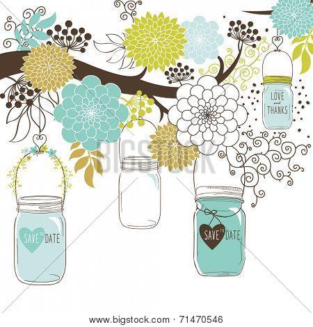 Wedding floral Jar