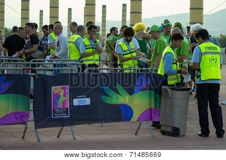 Entrance To Stadium At Barcelona World Cup
