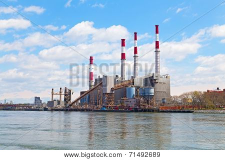 Power Plant near the river