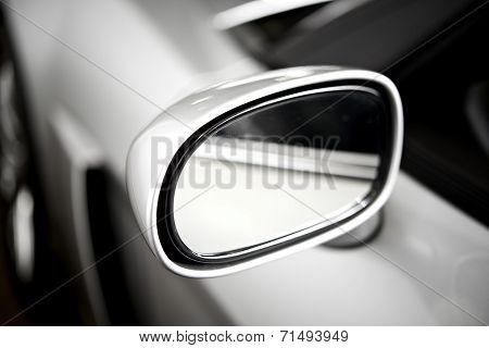 Silver Side Car Mirror