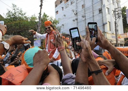 Bollywood actor Vivek Oberoi in Varanasi.