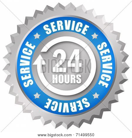 Service 24 hours icon