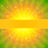 Abstract vector summer sunshine background with lights and bokeh poster