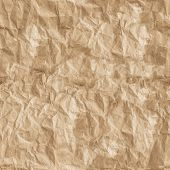 crumpled and wrinkled seamless of brown paper poster