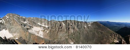 Rocky Mountain National Park Panorama from Arrowhead Peak poster