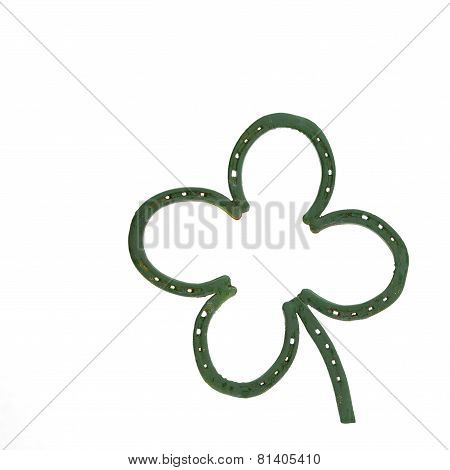Four Leaf Clover Made Of Horseshoes