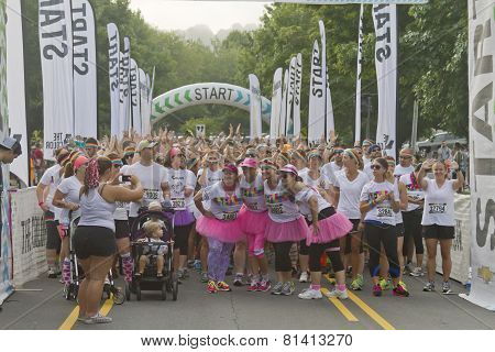 Color Run Fun At The Starting Line