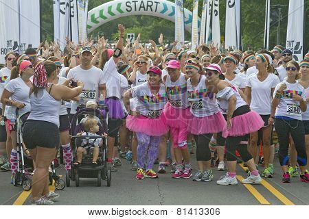 Color Run Before The Race Fun