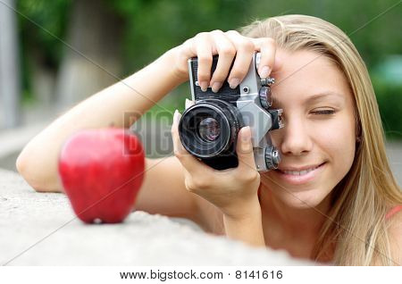 Photographer And Apple