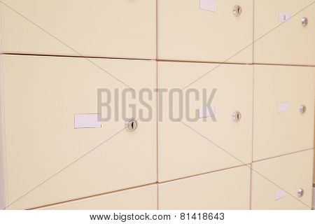 The image of a lockers