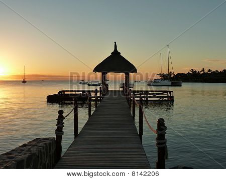 Landing Stage in Sunset