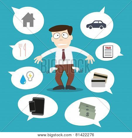 Business Man With Financial Issue