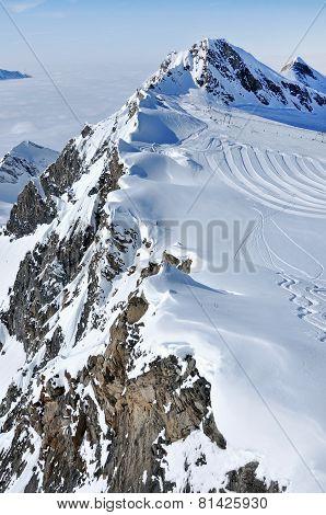 Ski Piste In The Alps