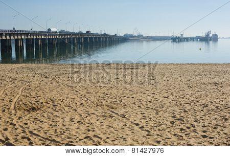 Sand Beside The Brigde