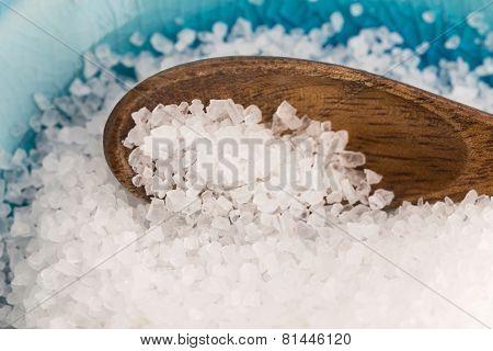 Sea Salt In Blue Bowl