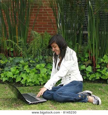 Student On A Laptop
