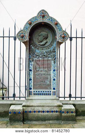 Commemorative Plaque At The Church Of Saint-jean-de-montmartre.