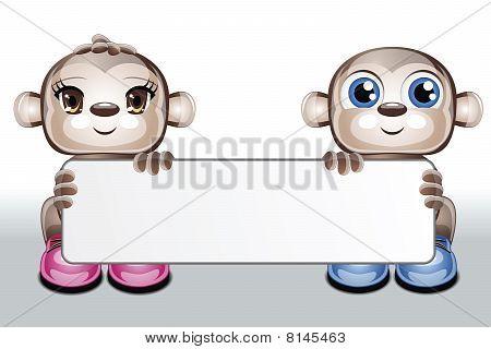 Cute Characters Blank Card