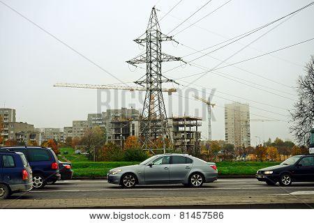 Vilnius City Fabijoniskes District And Energy Tower