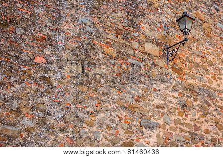 Lantern On An Old Wall