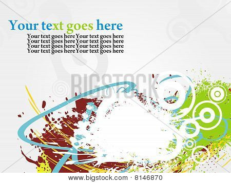 Abstract Colour Grunge Background