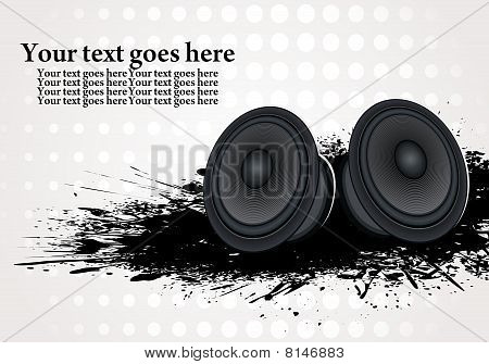Abstract grunge style speaker background