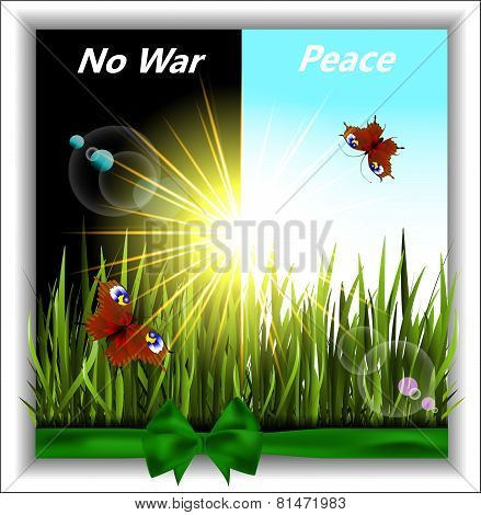 Greener Grass With Butterflies In The Sunshine. No War.