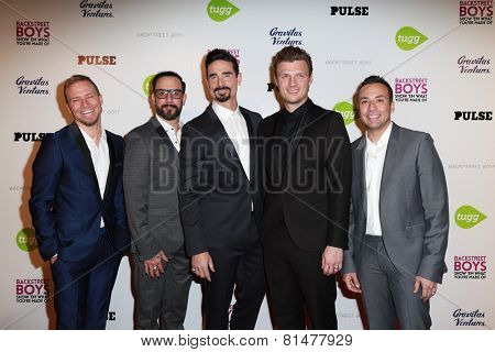 LOS ANGELES - JAN 29: A.J. McLean, Nick Carter, Brian Littrell, Kevin Richardson, Howie Dorough at the