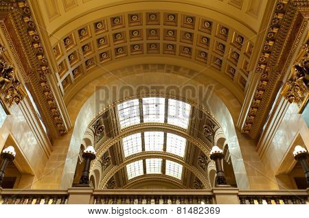 West Gallery Of Wisconsin State Capitol