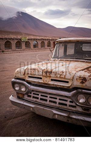 Rusty, Old, Broken Pickup Truck