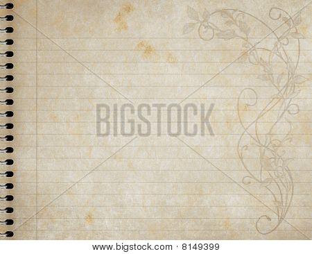 Spiral Notebook Floral Design