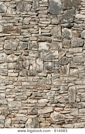 Weathered Old Stone Wall
