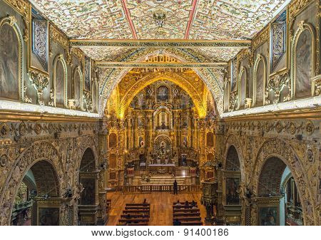 Interior Of The Church Of San Francisco, Quito