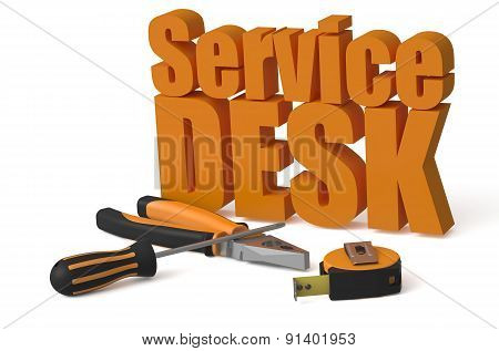 Service Desk Service And Repair Concept
