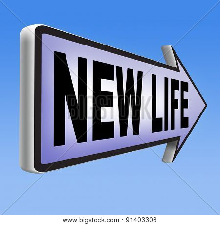 new life road to fresh begin new start sign  poster
