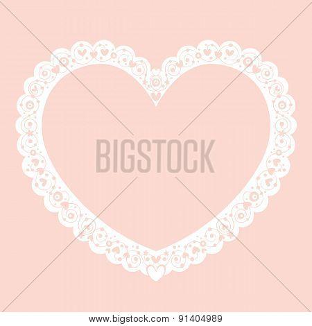 Valentine heart decorative ornamental frame banner background