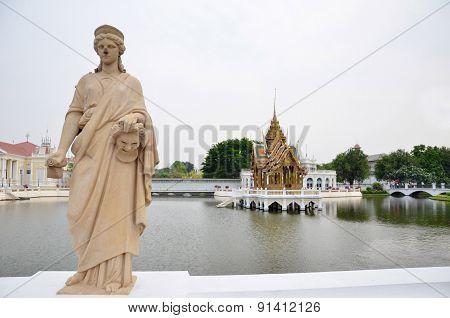 Bang Pa-in Royal Palace In Ayutthaya, Thailand.