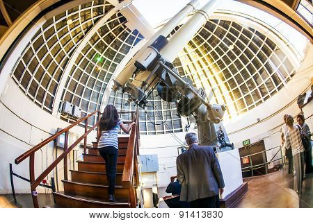 Famous Zeiss Telescope At The Griffith Observatory