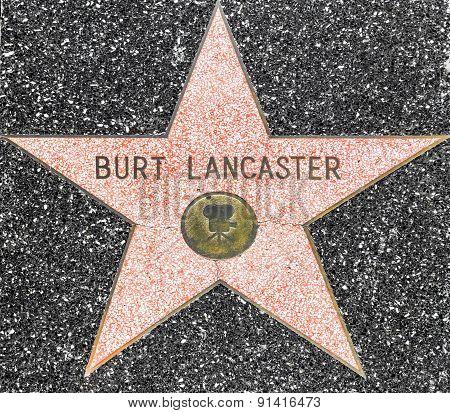 Burt Lancaster's Star On Hollywood Walk Of Fame